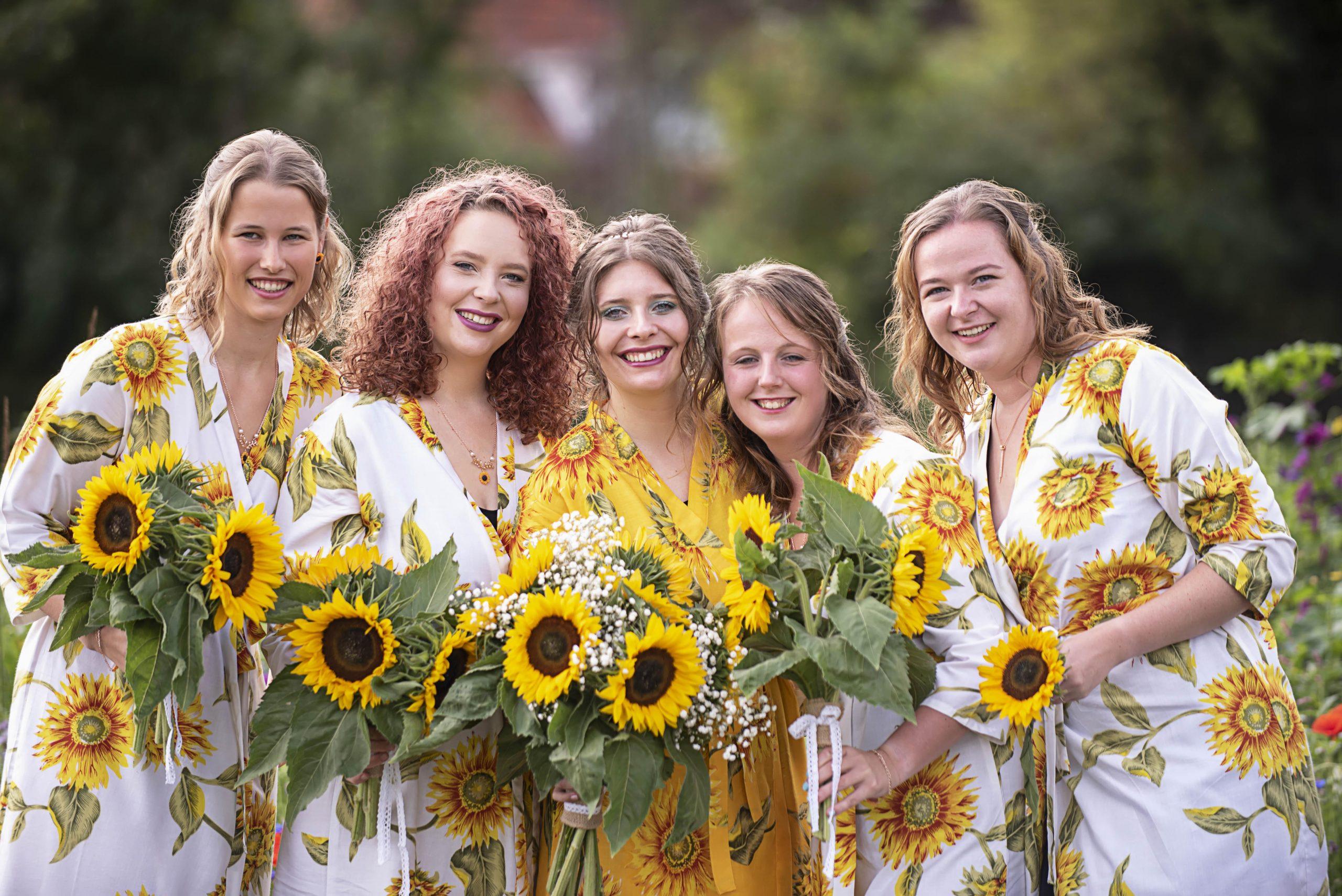 Trouwreportage zonnebloemen