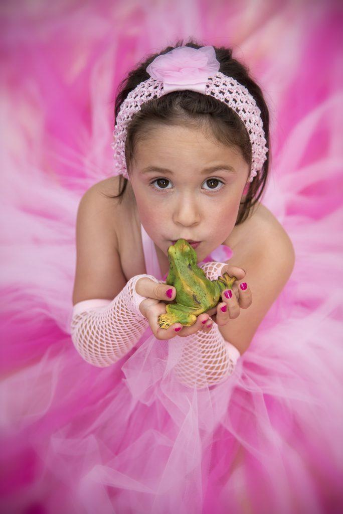 Baby kind fotografie prinses
